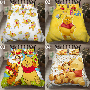 Winnie the Pooh Single Double King Super King Size Bed Duvet Quilt Cover Set