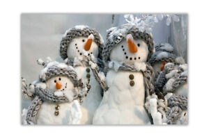 Snowmen Family Christmas Poster Wall Art Prints House Decoration Pictures