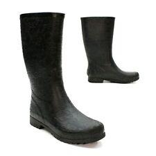 UGG Australia Ladies 5 (36) Wilshire Logo Rain Boot Black Rubber Booties 3385