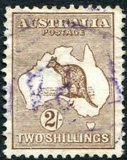 More details for australia-1913 2/- brown sg 12 good used v27668