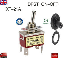 15A 250VAC 4 Pin DPST ON-OFF Toggle Switch+Waterproof Cap Dashboard Boat XT-21A