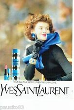 PUBLICITE ADVERTISING 116  1988  Yves Saint Laurent  parfum maquillage Rive Gauc
