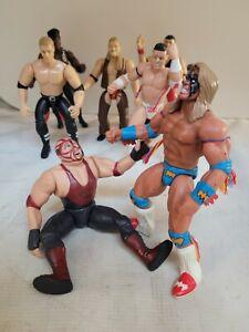WWF Jakks Pacific Superstars / Bone Crunching WRESTLING FIGURE Mixed Lot of 7