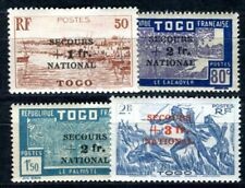 TOGO 1941 Yvert 211-214 * SATZ SECOURS NATIONAL (F4141