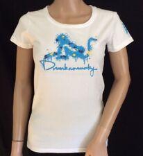 Ladies Drunknmunky White 'Paintball' T.Shirt. Size 12 BNWT