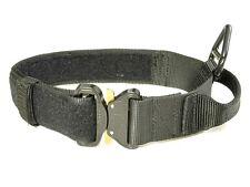 "Redline K9 1.75"" Black Dog Collar with Handle & Cobra Buckle Size 19"" - 25"""