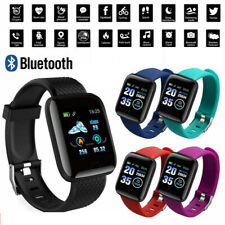 Smart Watch Bluetooth Heart Rate Blood Pressure Monitor Fitness Tracker bracelet