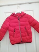 TU Kids Girls Red Quilted Hooded Puffer Jacket Age 5/6 Years BNWT