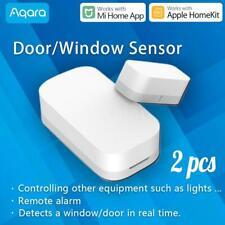 2 Stück Aqara Smart Window Door Mini Sensor Fenstersensor Security Wireless APP