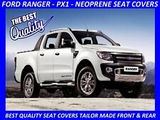 FORD RANGER PX1 FRONT & REAR DUAL CAB  NEOPRENE SEAT COVERS ( WETSUIT MATERIAL )