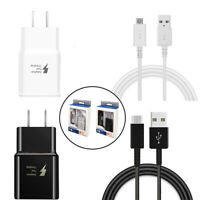 5/3/1 Pack Fast Wall Charger + Micro USB Type C Charging Data Cable For Android