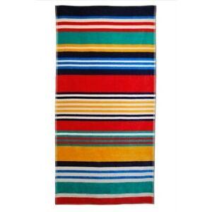 Jacquard 100% Egyptian Cotton Multi-Colored Stripes Oversized Beach Towel