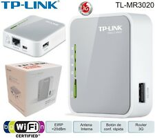 TP-Link TL-MR3020 Portable 3G/4G DONGLE Wireless N Router+N150+TRAVEL MODE+LAN