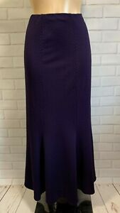 PURPLE TEXTURED MAXI FULL LENGTH FISHTAIL STYLE CASUAL  SKIRT SIZE 12-20
