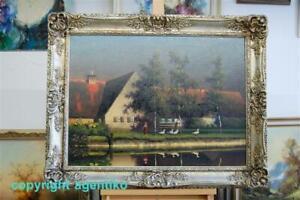 P W Keller Reutlingen * 1854 - 1920 * Ölgemälde Leinwand * 56 x 75cm TOP ZUSTAND