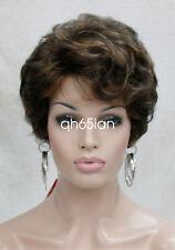 Fashion Wigs Women Short Curly Natural hair Ladies wig Brown Blonde Grey