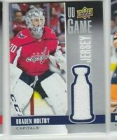 1x - BRADEN HOLTBY UD Game Jersey 2019-20 Upper Deck GJ-BH Washington Capitals