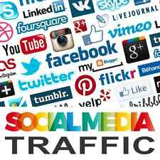 1,000 visitantes Real! altamente orientada social tráfico! totalmente rastreable en Ga