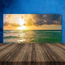 Crédence de cuisine en verre Panneau 120x60 Paysage Mer Soleil