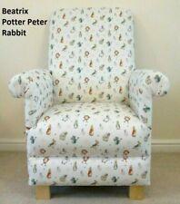 Children's Chair Peter Rabbit Fabric Kids Armchair Beatrix Potter Nursery Book