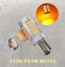 Front Signal Light 1156 BA15S 3497 1141 7506 P21W 92 LED Bulb Amber W1 JAE