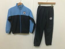 Manchester City FC Official Men's Tracksuit - Large (L) - Sky/Navy - New