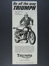 1967 Triumph Bonneville Road Sports T120R motorcycle photo vintage print Ad