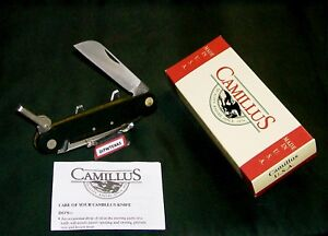 Camillus 695 Rigging Knife Marlin Spike 1980's USA Made & W/Packaging,Paperwork