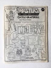 Vtg 1981 Mattel He-Man Masters of the Universe Orig Castle Grayskull Instruction