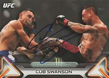 CUB SWANSON SIGNED AUTO'D UFC 2016 TOPPS KNOCKOUT 5X7 CARD #/49 BAS COA 206 162