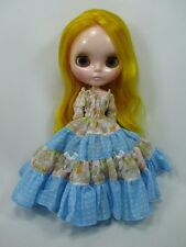 Blythe Outfit Handcrafted long sleeve dress basaak doll # 790-75