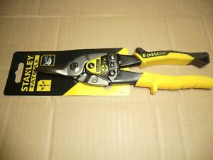 STANLEY FATMAX YELLOW STRAIGHT CUT TIN SNIPS NEW