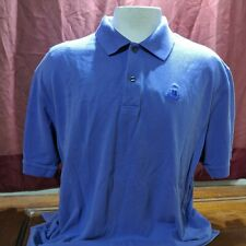 vtg IZOD Polo/Rugby light blue silk wash 100% cotton pique sz XL
