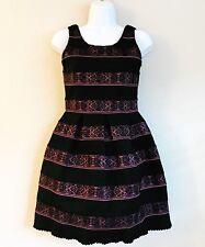 Elisa  B Girls Dress Black and Pink Lace dress size 16