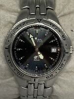 Fossil Am3621 Unisex Silver Stainless Steel Analog Black Dial Quartz Watch Aa311