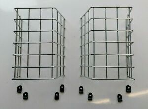 MESH LIGHT GUARDS/PROTECTORS CHROME MP998 BLACK WITH FIXINGS