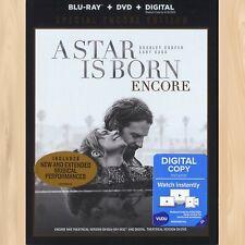 Lady Gaga A STAR IS BORN Encore EXTENDED CUT Blu-ray + DVD Bradley Cooper   0610