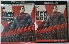 DC SUPERMAN: RED SON 4K ULTRA HD BLU RAY 2 DISCS + SLIPCOVER FREE WORLD SHIPPING