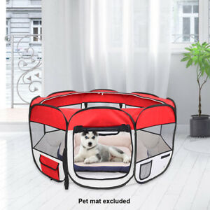 Portable Pet Carrying Case Playpen Foldable Collapsible Travel Bowl Dog Cat WH