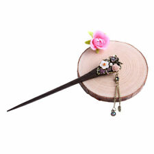 Various Fashion Wooden Hair Stick Colorful Hairpin Crystal Rhinestone Hair Stick