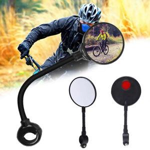 2Pcs Bicycle mirror Bike Handlebar Flexible Rear Back Mirror Rearview   ERBAF2