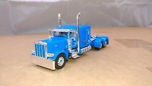 "Dcp blue Peterbilt 389 63""flattop tractor new no box"
