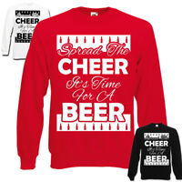 Spread The Cheer Time For A Beer Sweatshirt   Xmas Jumper   Christmas   Beer