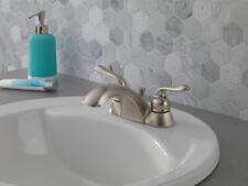 """New"" Peerless Two Handle Centerset Bathroom Faucet Brushed Nickel P299623LFBNW"