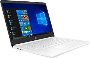 """HP 14"""" HD Laptop (Celeron, 4G, 64G ) white 14-dq0002dx with microsoft 365 1-year"""