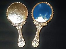 Vintage Style Decorative Antique Gold Hand Held Mirrors