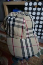 Retro Burberry Nova Check Cap,Hat Hipster Street Casual Terrace Rap,New With Tag