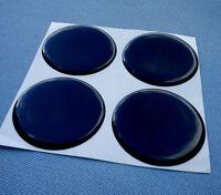 4x Schwarz Embleme für Nabenkappen Felgendeckel 50mm Silikon Aufkleber 50Schw