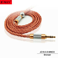 JCALLY 16 Core Cable 6N OFC 3.5mm QDC KZ Technica Shure TRN IE80 MMCX A2DC Wire