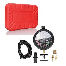 Carburetor Valve Fuel Pump Engine Oil Pressure & Vacuum Tester Gauge Test Kit